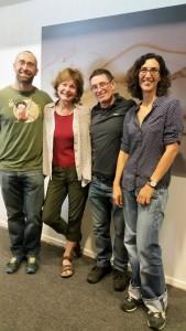 Patricia, Súper-Eva, Luigi & me en el evento.